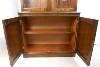Georgian Style Mahogany Bookcase Cabinet by Titchmarsh & Goodwin